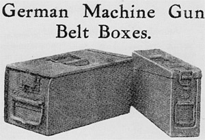 Photo of German Machine Gun Belt Boxes