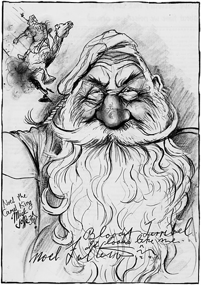 Caricature of Noel Fullerton, by Mick Joffe