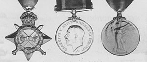 Photograph of medals