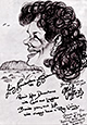 Preview caricature of Lindy Chamberlain